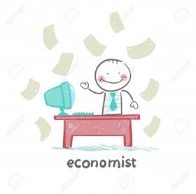 21982955-economist-sitting-at-work-Stock-Vector
